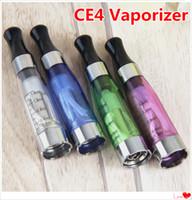 MOQ 5PCS CE4 Распылитель 1.6 мл 2,4OHM 8 Цветов Clear Clearoomizer Vape Pen Нет Утечка резервуара для Ego T Evod Twist Vision Vision Cartridge