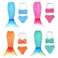 الأطفال rainbow حورية البحر قطعتين ملابس الأطفال الكرتون الطفل الفتيات الأسماك مقياس المايوه الصيف أزياء أطفال بيكيني Z0825