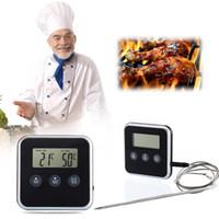 1 Pcs Pratique Lecture Instantanée Thermomètre Numérique Eddingtons Horloge Numérique Cuisine Minuterie Thermomètre À Viande À Sonde Four