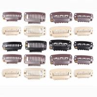 Fita na extensão do cabelo Botão Cabelo Clip Snap para extensões de cabelo de trama de pele 100pieces / pacote