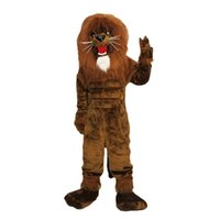 Lion king Mascot Costume Cartoon Character Adult Size Longte...