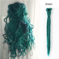 Nicole Crochet Ombre Tresses cheveux 20 pouces synthétiques main Dreadlocks 25 Couleurs disponibles 10Strands / Paquet Extensions de cheveux synthétiques