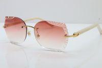 도매 2020 뜨거운 새겨진 렌즈 안경 8200762A 무역없는 금속 믹스 화이트 블랙 판자 선글라스 유니섹스 광학 패션 선글라스