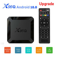 X96Q الروبوت 10 رباعية النواة مربع التلفزيون الذكي allwinner h313 media player شبكة 4K تعيين أعلى استقبال