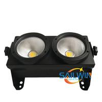 2 * 100W COB 2IN1 WW / CW LED Blinder Light 2 głowice / oczy Publiczność Studio Light