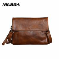 NIUBOA Women Vintage Cowhide Messenger Bag Luxury Retro 100%...