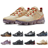 nike air vapormax 2019 2019 Vampor max Cushion Running Athletic Chaussures Femmes Hommes White Canyon Or Rose Rose Noir Gris Noir Gris Violet Aluminium Bleu Baskets De Sport