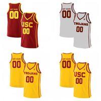 Costume USC Trojans Faculdade Basquete Vermelho Vintage Branco Costura Qualquer Nome Número 4 Kevin Porter Jr. 25 Bennie Boatwright Jersey S-4XL