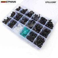 EPMAN 299pcs 18 مقاسات جسم السيارة دفع دبوس برشام كليب السحابة الطين النفخ تريم EPSLK299F أرخص