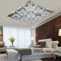 Quadrat-LED Licht-Kristall-Decken Lighti Fixture Surface Mounted Kristall-LED Kronleuchter-Lampe für Flur Foyer Aisle Korridor Schnelle Lieferung