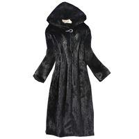 2018 가을 겨울 새로운 여성 모피 코트 모조 밍크 코트 긴 창틀 모자 유럽과 미국 대형 따뜻한