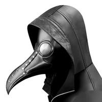 Steampunk Veba Kuş Maskesi Doktor Maskesi Uzun Burun Cosplay Fantezi Maske Özel Gotik Retro Kaya Deri Cadılar Bayramı Maskeleri
