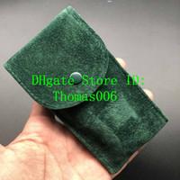 Migliore qualità Smooth Custodia protettiva in flanella verde sacchetto di vigilanza per il regalo regalo Rolex tasca verde Storage Bag