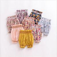 Knickers bebê Bloomer Shorts Toddle Floral Flower PP Pants Meninas Diaper Covers Calças Ins Verão Casual Briefs Pão Calças Cueca C5482