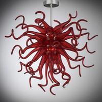 Lâmpadas Pingente Design Simples Moderno Personalizado Murano Cristal Chandeliers Moda Indoor Iluminação Sala de estar Pendurado Candelabro Pequeno Decorativo