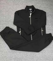 Neue klassische Mode Echte Fotos Top Qualität Freies Verschiffen Longsleeve Männer Casual Trainingsanzug Sport Trainingsanzug M-3XL Schwarze Farbe