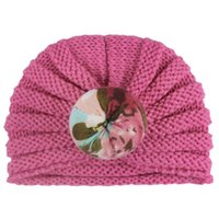 INS Donut Babymützen Blumensäuglingshüte Häkelarbeit-Baby-Strickmütze Mädchenhut neugeborene Kappe Baby Beanies Mädchen Caps
