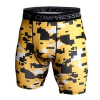 Ginásio dos homens Ginásio Shorts Pro Quick-Seco Sportswear Executando Bodybuilding Skin Sport Training Fitness Compression Shorts com com