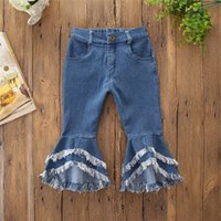 Baby Girl Clothes Fashion Elastic Waist Flare Jeans Wide Leg...
