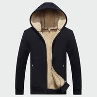 Winter Men's Jackets Fleece Hooded Coats Warm Tracksuit Soft Men Hoodies Thick Velvet Sweatshirt Mens Brand Clothing ML040