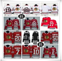 Homens Chicago Blackhawks 2019 Inverno Clássico 21 Remendo Jersey Kirby Dach Jonathan Toews Patrick Kane Duncan Keith Crawford Saad DeBrincat Brent