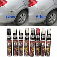 8 colores 12ml New Car Profesional Reparación de pintura impermeable pluma Fix él favorable rasguño del coche del claro removedor de pintura Plumas