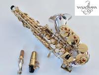 dava ile Yeni Enstrüman Yüksek Kaliteli Markalar YANAGISAWA Soprano Saksafon SC-9937 gümüşlenme Pirinç Sax Profesyonel Ağızlık