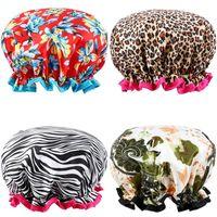 Extra Cars Caps Caps Симпатичные душевые шапки идеально подходят для длины волос Водонепроницаемый двойной слой многофункциональные шапки для душа