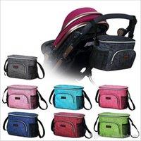 Cochecito de bebé para bebé Llevar Bolsas de la compra Pañaleras térmica Organizador de bolsillo portátil botella del panal del Chupete mamá bolsas de almacenamiento al aire libre C5639