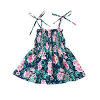 New Toddler Baby Girl Floral Party Casual Beach Sundress Ropa de verano 1-6Yrs