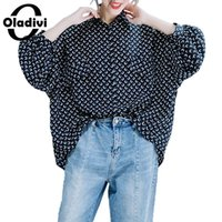 Oladivi Plus Size Women Batwing Sleeve Fashion Printed Top T...