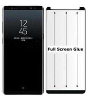 3D Eğri Kenar Telefon Lion Yeni Perakende Ambalaj için Samsung S10 Artı Not 10 Pro Ekran Koruyucu Kılıf Dostu Tam GlueTempered Glass için