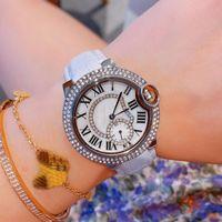 Новые Top Luxury женщин конструктора кварцевые часы 33мм Полный звезды Daily Водонепроницаемая Мода женщина наручные часы Lady подарка Montres де режиме
