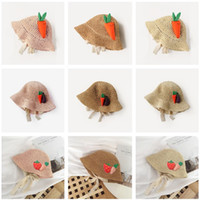 New Summer Outdoor Fruit Strawberry Bucket Hat For Girls Chi...