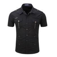 Alta manga curta dos homens de qualidade T Shirt Uniforme Militar Outdoor camisa dos homens Casual 100% Algodão Blusa Outwear