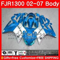 Kit für YAMAHA FJR1300A FJR-1300 2001 2002 2003 2004 2005 2006 2007 120HM.64 FJR 1300 FJR1300 Blau silber heiß 01 02 03 04 05 06 07 Verkleidungen