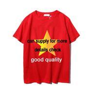 남성 여름 티셔츠 2020 파리 스타일의 옷 편지 인쇄 새로운 쌍 고전적인 여성 남성 셔츠 크루 넥 옷 2208 # 망