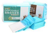 50pcs / Çanta L Boyut Süper Emici Pet Dokumasız kumaş Bezi Pad Köpek Köpek Anne Eğitim Çiş Pedleri Sağlıklı Temiz Islak Mat Yeni doğmuş