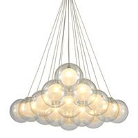 Lampada moderna LED Pendente in Vetro di sospensione del soffitto Lamp Fixture Chandelier nuovo per Camera Bar Soggiorno Illuminazione PA0342