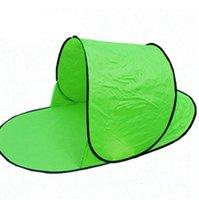 Портативный всплывающий пляжный шатер солнцезащитный козырек укрытие открытый кемпинг Рыбалка пляжный коврик складной автоматический солнцезащитный козырек палатка для одного человека LJJK2143