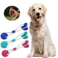 الكلب اللعب يمضغ الحيوانات الأليفة مولي لدغة لعبة الحيوانات الأليفة الإمدادات الحبل حبل الكرة مضغ تنظيف الأسنان مع كأس الشفط للكلاب الصغيرة