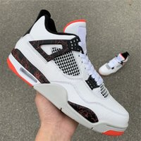 Wholesale New 4 IV Pale Low men basketball shoes white red 4...