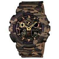 Новый стиль мужские новые часы мужские наружные часы спортивные поглощения мужские светодиодные цифровые кварцевые часы подарок для мальчиков 110 дубовых часов