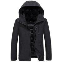Giacca invernale Uomini 2018 Parka autunno di stile extra spessore caldo cappotto con cappuccio da uomo invernali giacche e cappotti