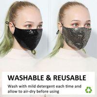BlingBling Маски Блестки Face Fashion пыл моющиеся многоразовая маска Респиратора для салона Домащние дышащих взрослых Защитной маски FY9048