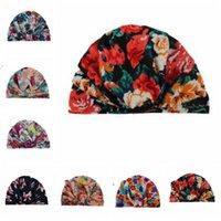 Bebé India gorras floral bohemio Caps recién nacido Impreso del sombrero del ganchillo del niño de la manera de la vendimia de la gorrita tejida infantil invierno Caps Accesorios CZYQ6067