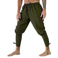 Pantaloni da uomo Uomo Uomini Halloween Medieval Pirate Rinascimento Cavaliere Costume Cosplay Costume Allentato Pantalone da gamba Pantaloni