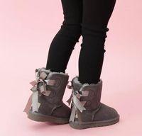 Venda quente Crianças Botas de Neve de Couro Genuíno Botas de Neve para Crianças Botas Com Arco Crianças Calçados Meninas tênis