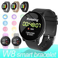 W8 Smart-Uhren Android Uhren Männer Fitness-Armbänder für Frauen Herzfrequenzmonitor IP67 wasserdicht Sportuhr für Telefone mit Kleinkasten