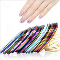 Prego Fita Linha de Fita a laser Nail Art Sticker Prego Listrado Rolo Belas Dicas Para DIY Nails Art Tips Decoração Adesivo KKA6441